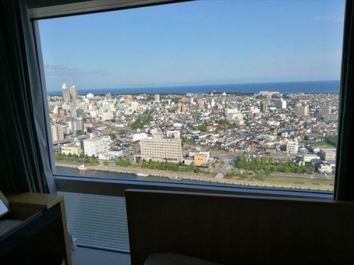 ホテル日航新潟景色