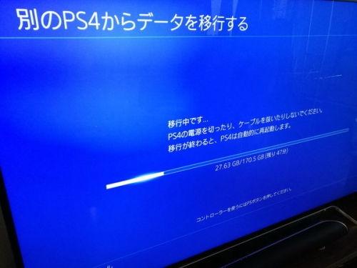 PS4データ引き継ぎ