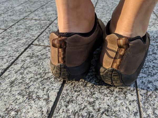 メレル靴色落ち