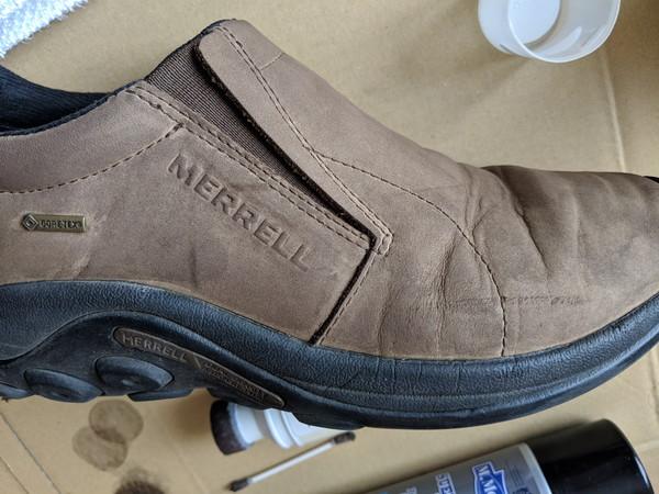 革靴自分で染める
