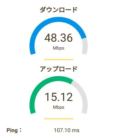 レンタルwifi速度
